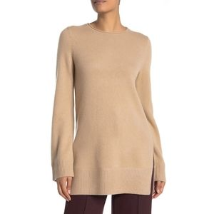 VINCE cashmere camel tunic sweater